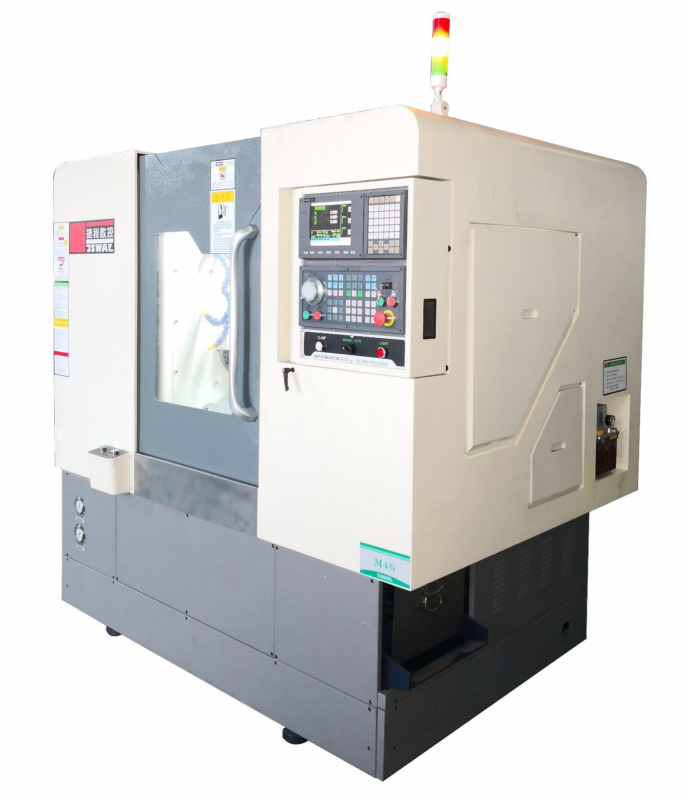 product-JSWAY-2020 New design 4 Axis Slant Bed turning and milling combine lathe machine M46X-img-3