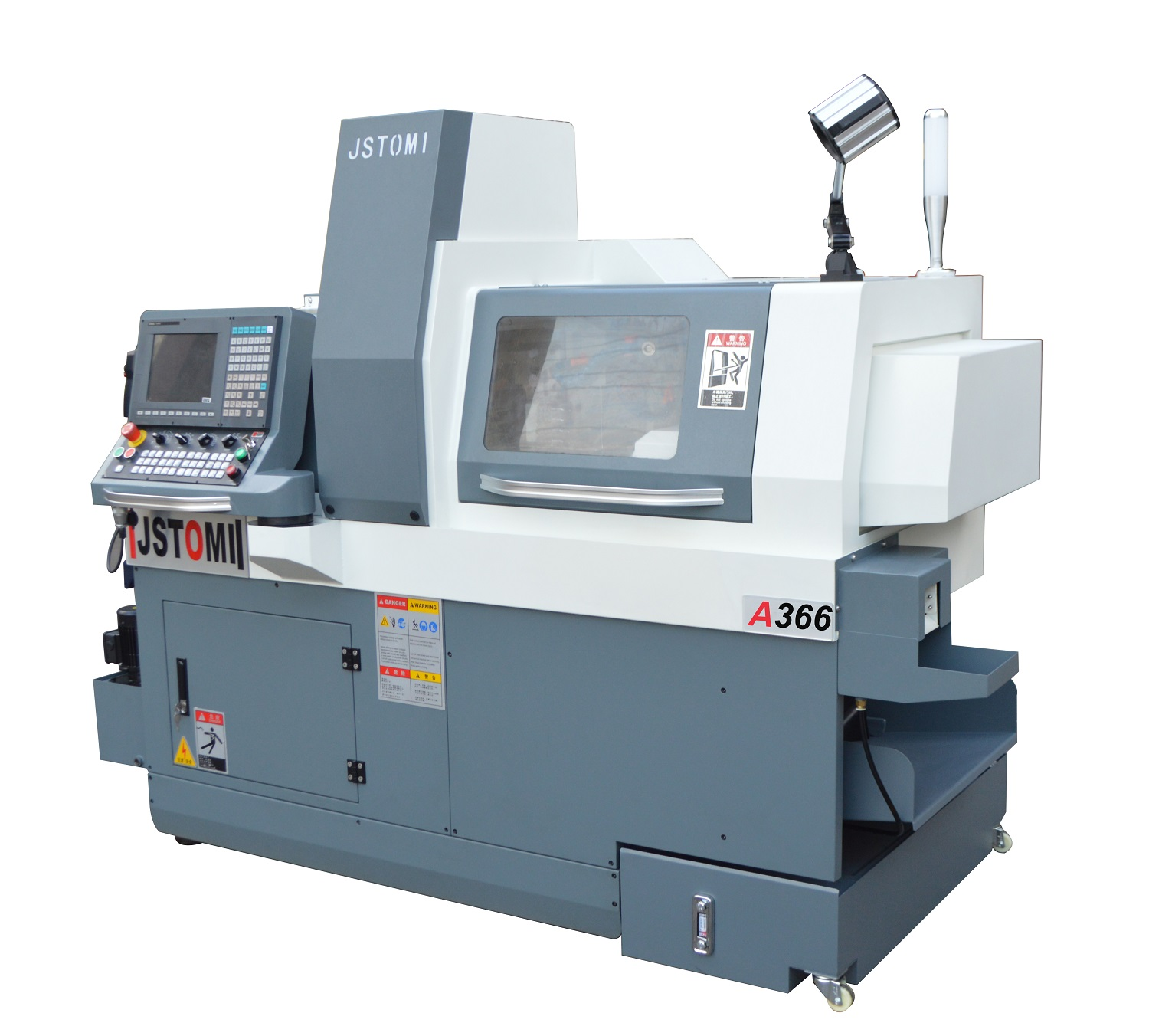 product-6 aixs big bore double mechanical spindle heavy cutting Swiss type lathe machine A366-JSWAY