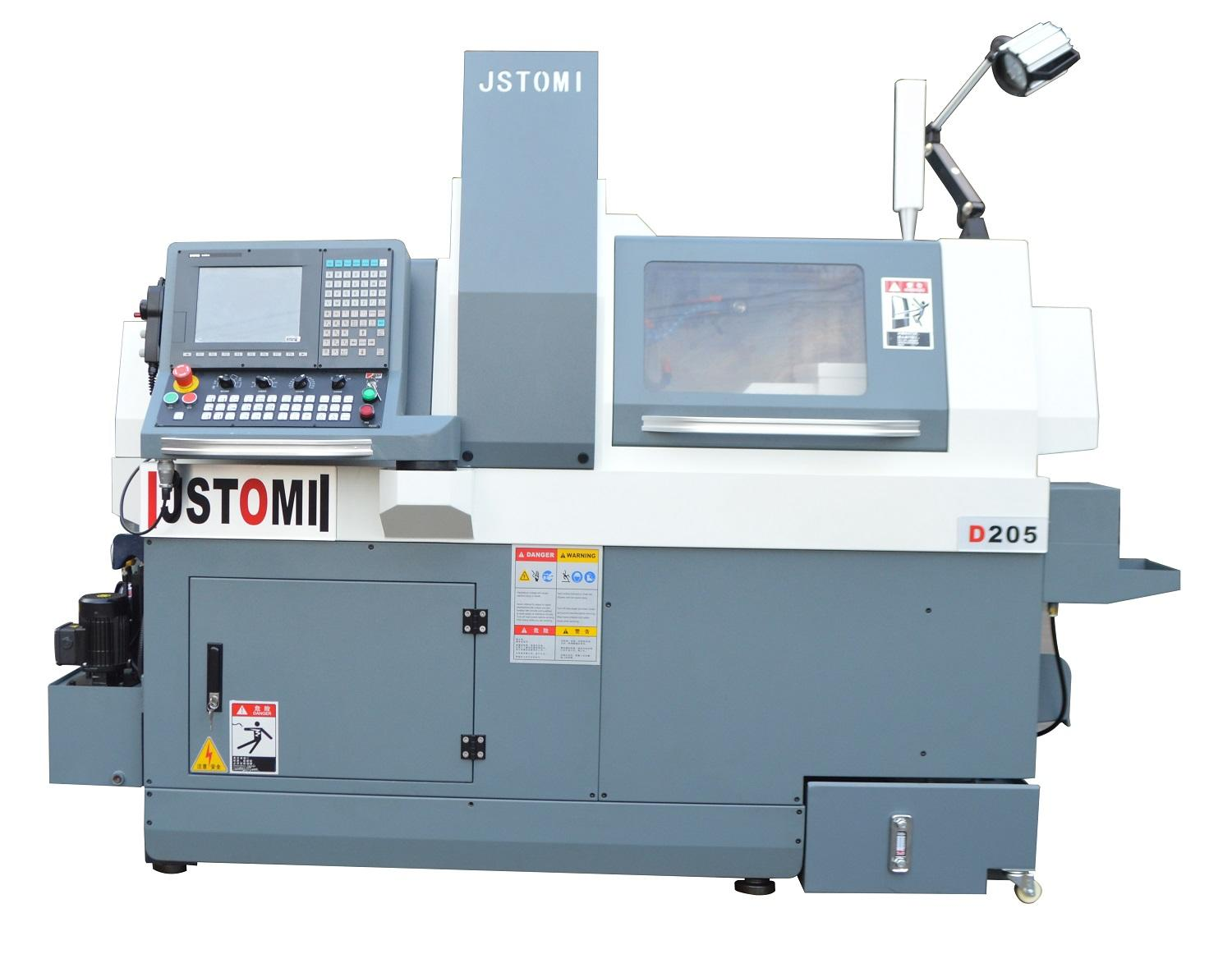 D205 Double electric  built in Spindle Auto CNC Swiss Lathe Machine