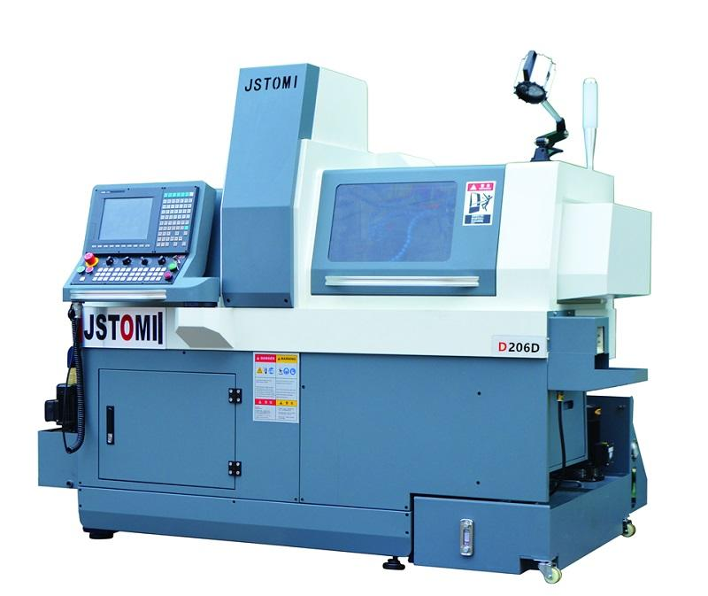 6 axis D206 double electric spindle high efficiency Swiss type cnc lathe torno suizo