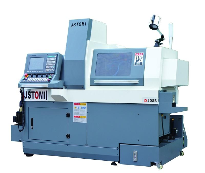 8 axis High speed precision small swiss type CNC lathe machine price D208